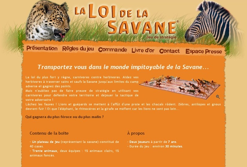 Site Internet Loi de la Savane