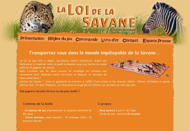 Site Internet Loi de la Savane