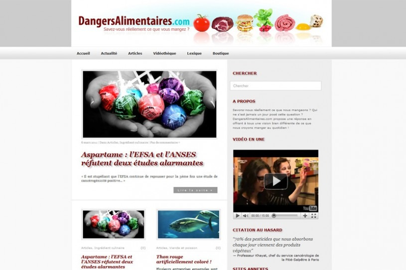 Site Dangers Alimentaires