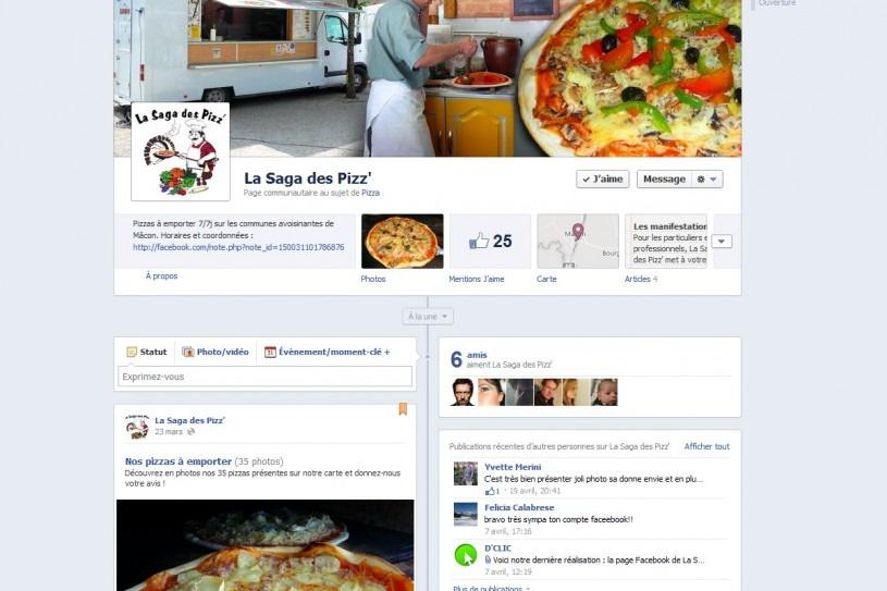 Page Facebook La Saga des Pizz