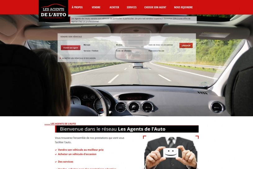 Site Internet Les Agents de l'Auto