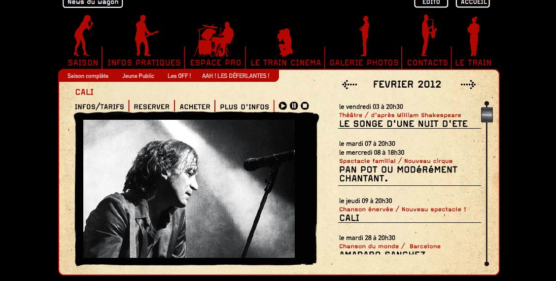 Site Internet Train Théâtre