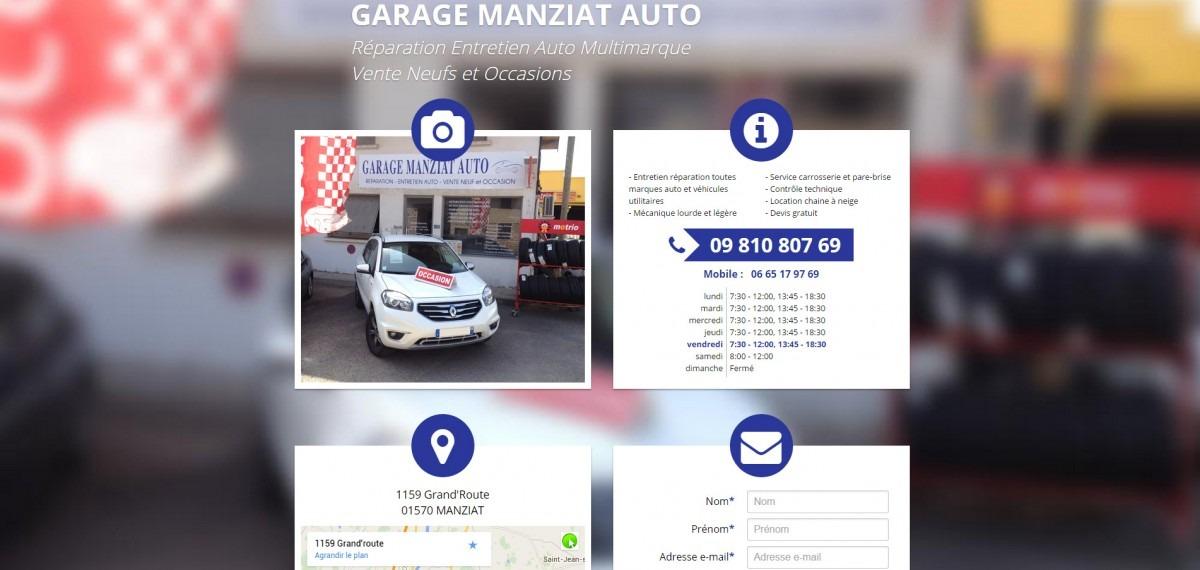 Site Internet Garage Manziat Auto