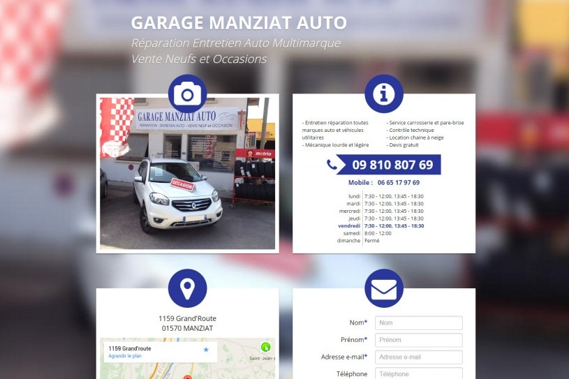 Site Internet Garage Manziat Auto
