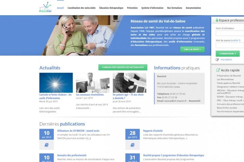 Site Internet de RésoVal
