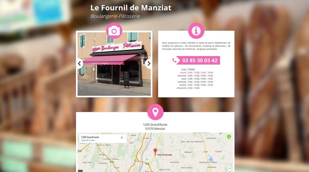 Site Internet Le Fournil de manziat