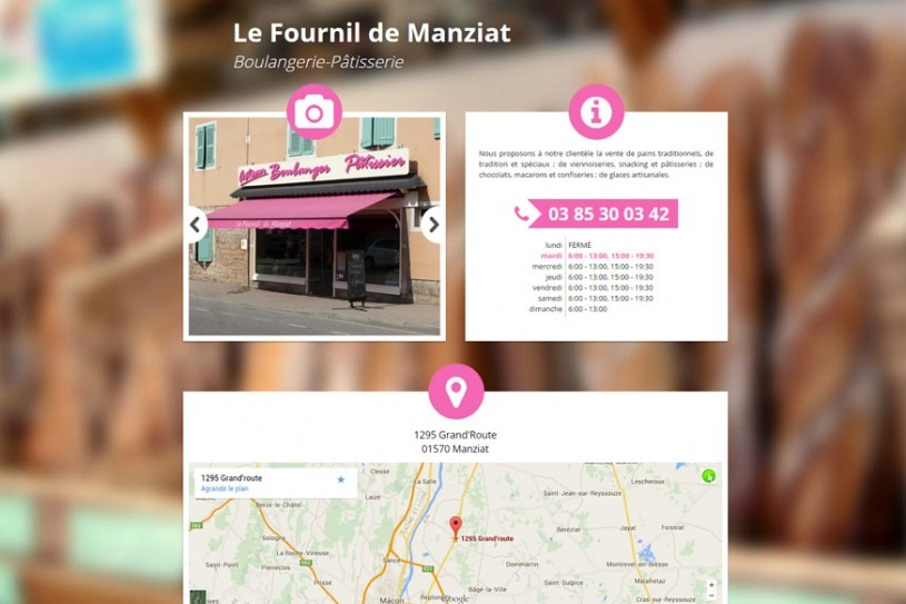 Site Internet Le Fournil de manziat