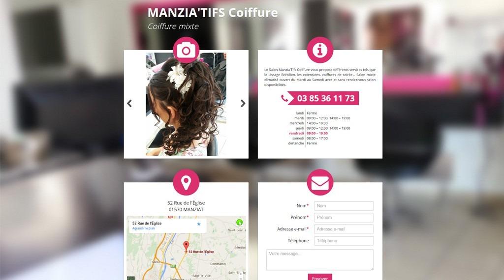 Site Internet Manzia'Tifs coiffure