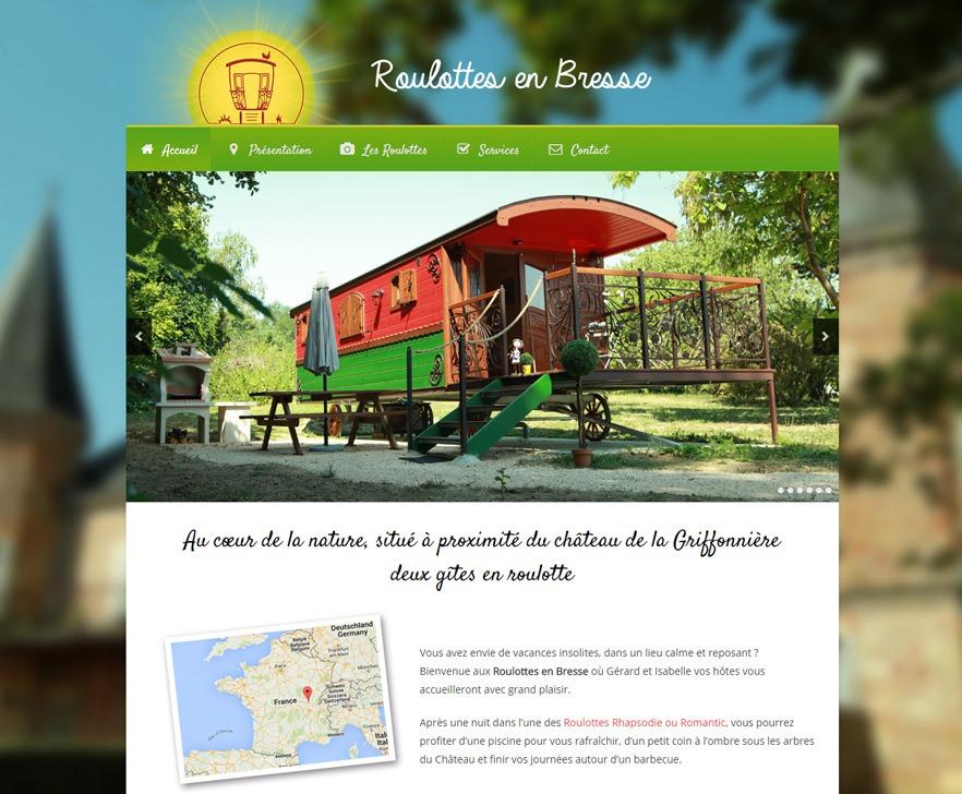 Site Internet Roulottes en Bresse