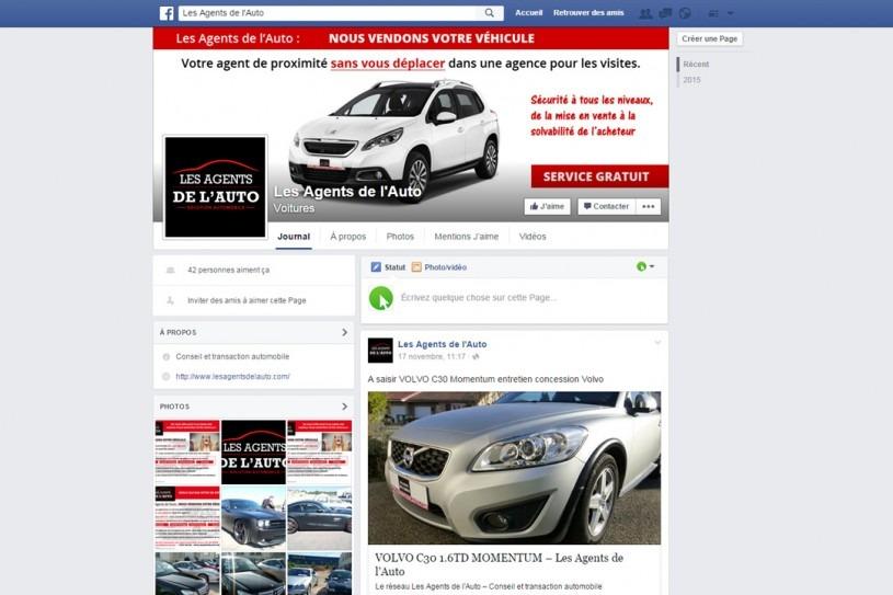 Page Facebook Les Agents de l'Auto
