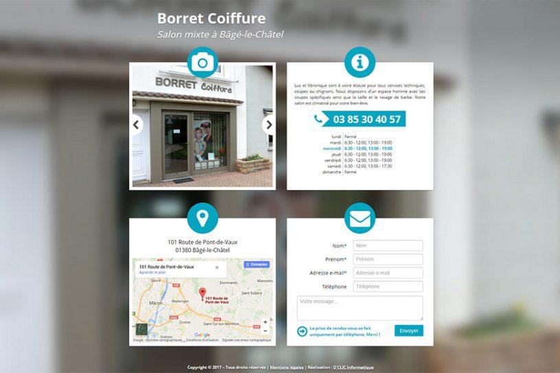 Site Web de Borret Coiffure