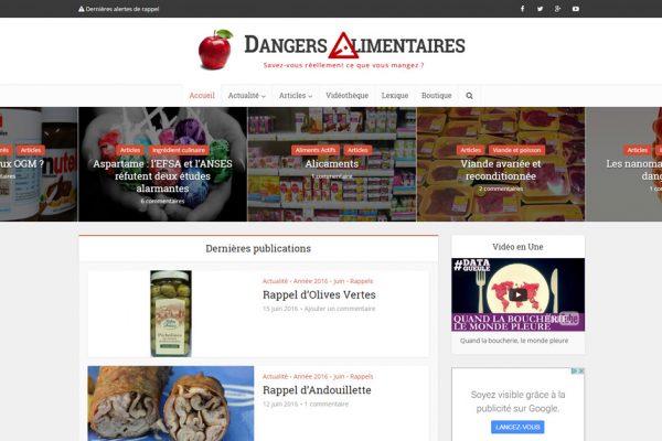 Site Internet de Dangers Alimentaires