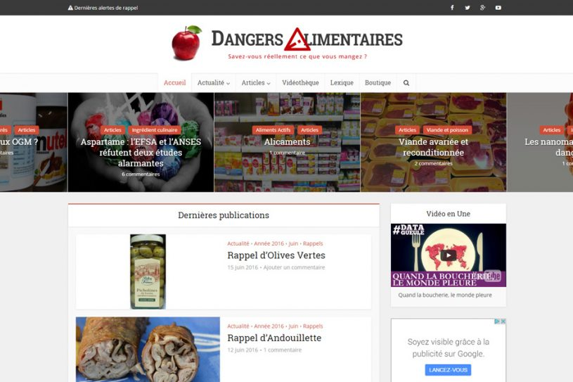 Site Internet de Dangers Alimentaires