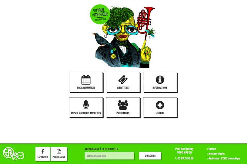 Site Web de la Cave à Musique