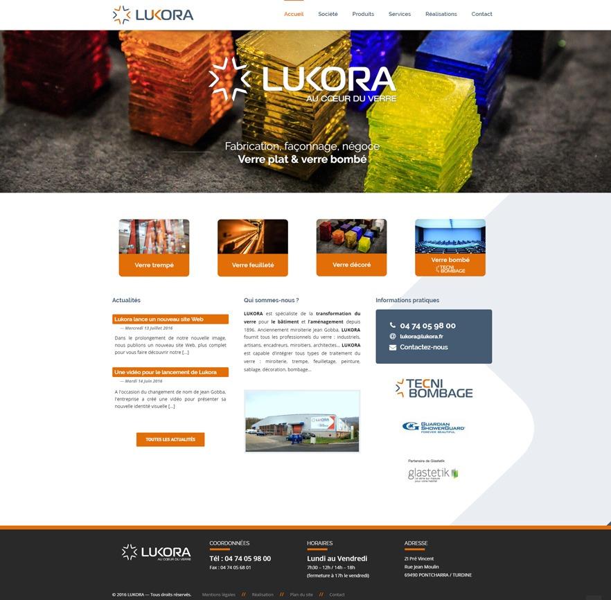 Site Internet de Lukora en entier