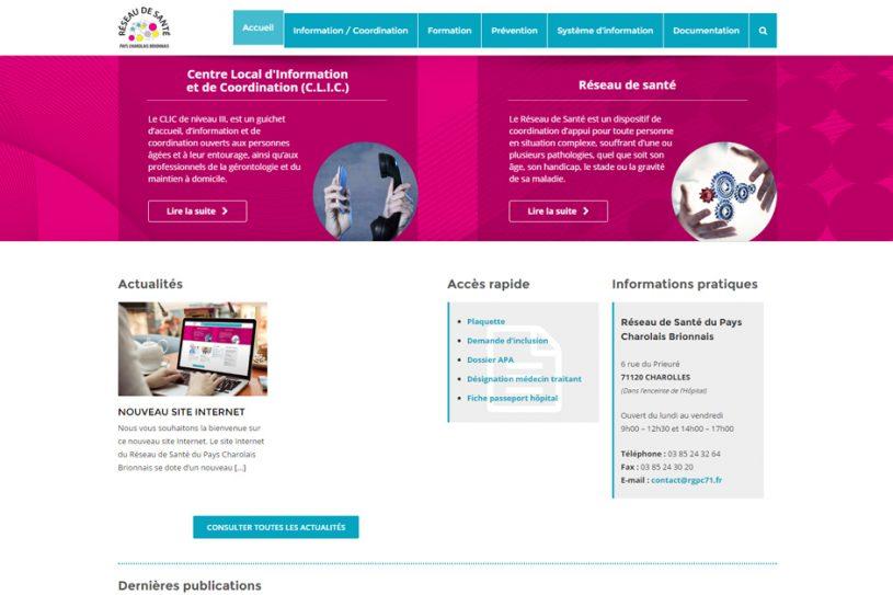 Site Web de Réseau de santé charolais