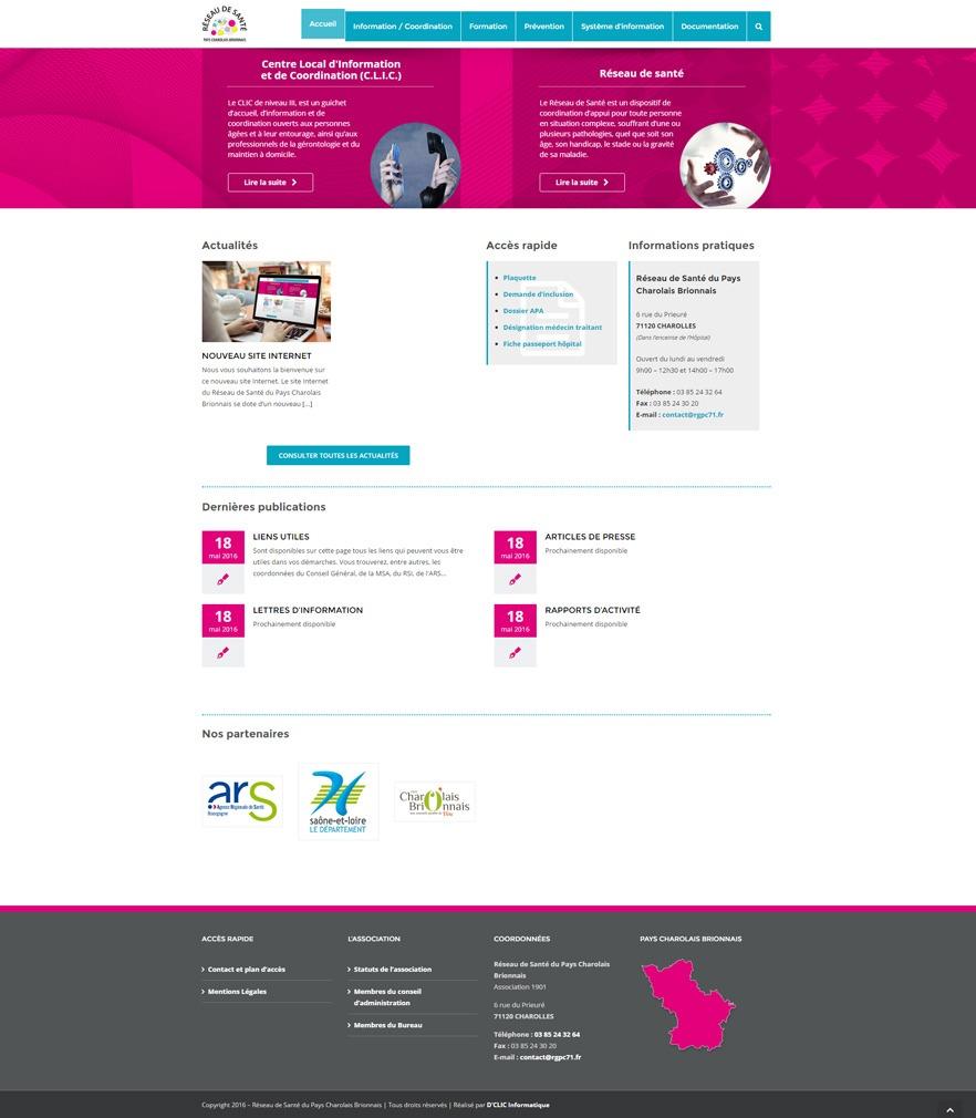 Site Web de Réseau de santé pays charolais entier