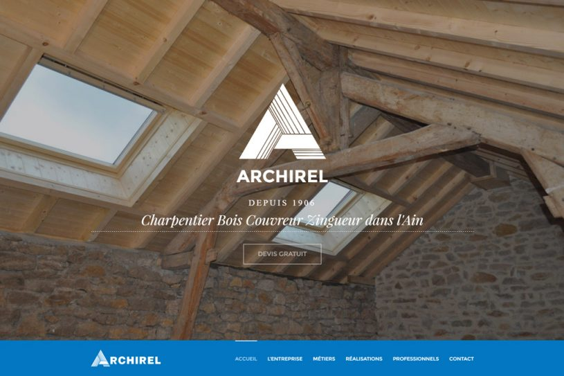 Site Web de Archirel Charpente