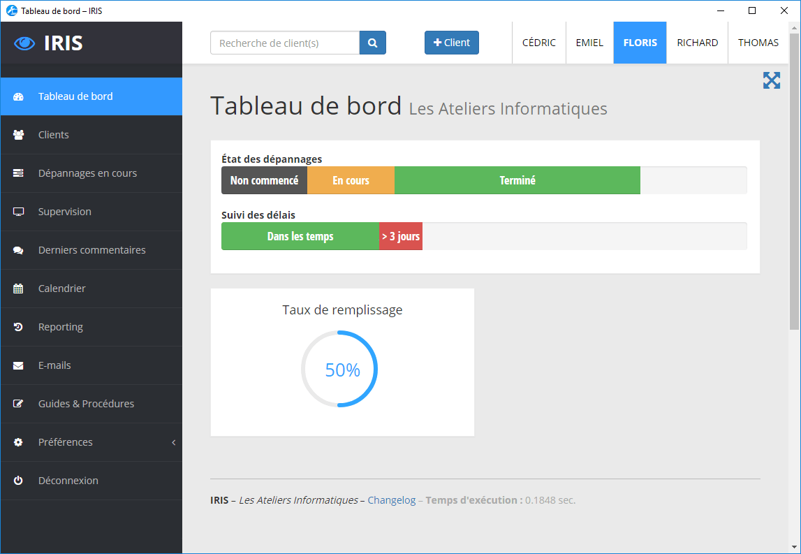 Exemple d'application de gestion