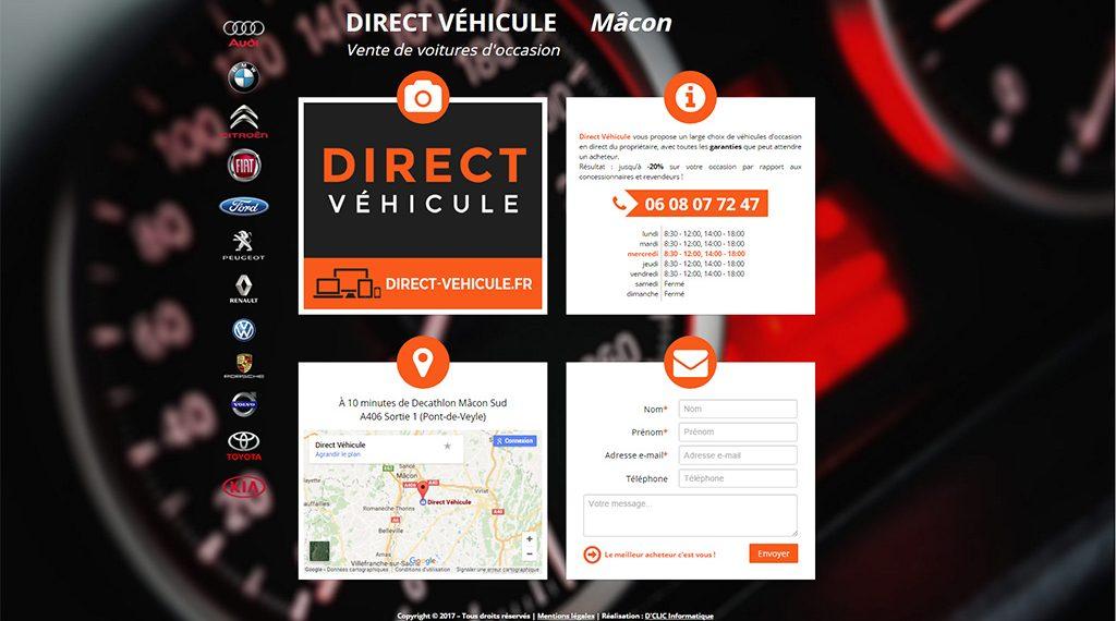 Site Web de Direct Véhicule