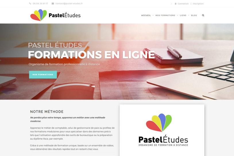 Page d'accueil du site Pastel Études