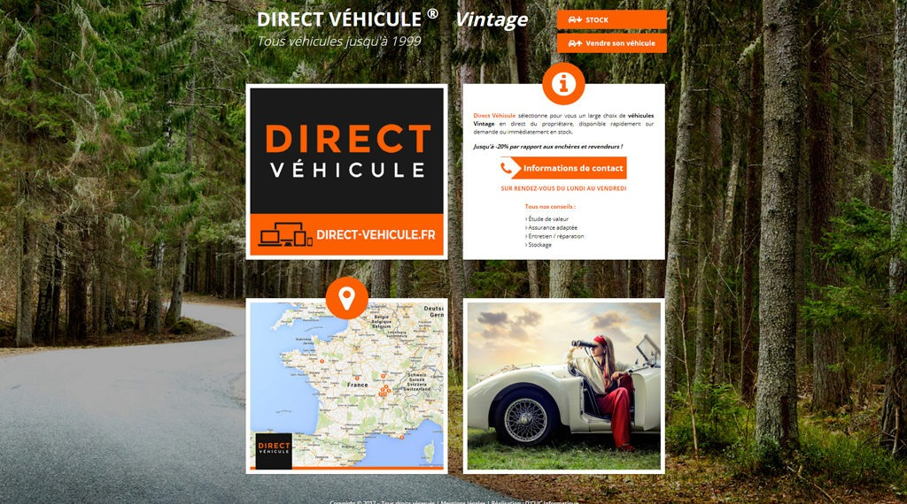 Site Internet de Direct Véhicule Vintage