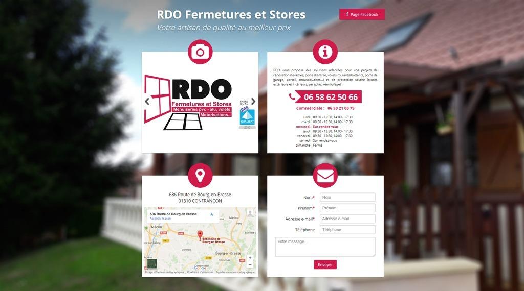 Site web de RDO Fermetures