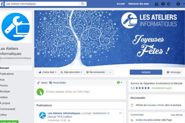 Page Facebook - Les Ateliers Informatiques
