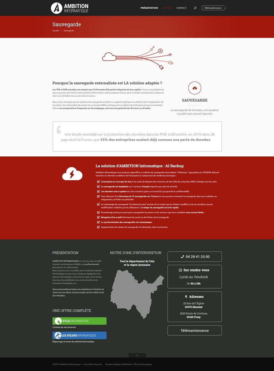 Site Ambition Informatique - Sauvegarde