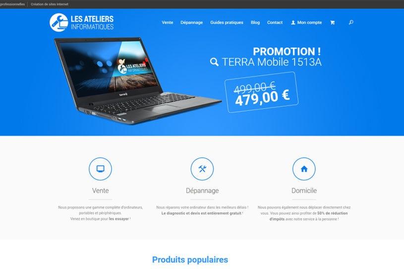 Site Les Ateliers Informatiques - Une
