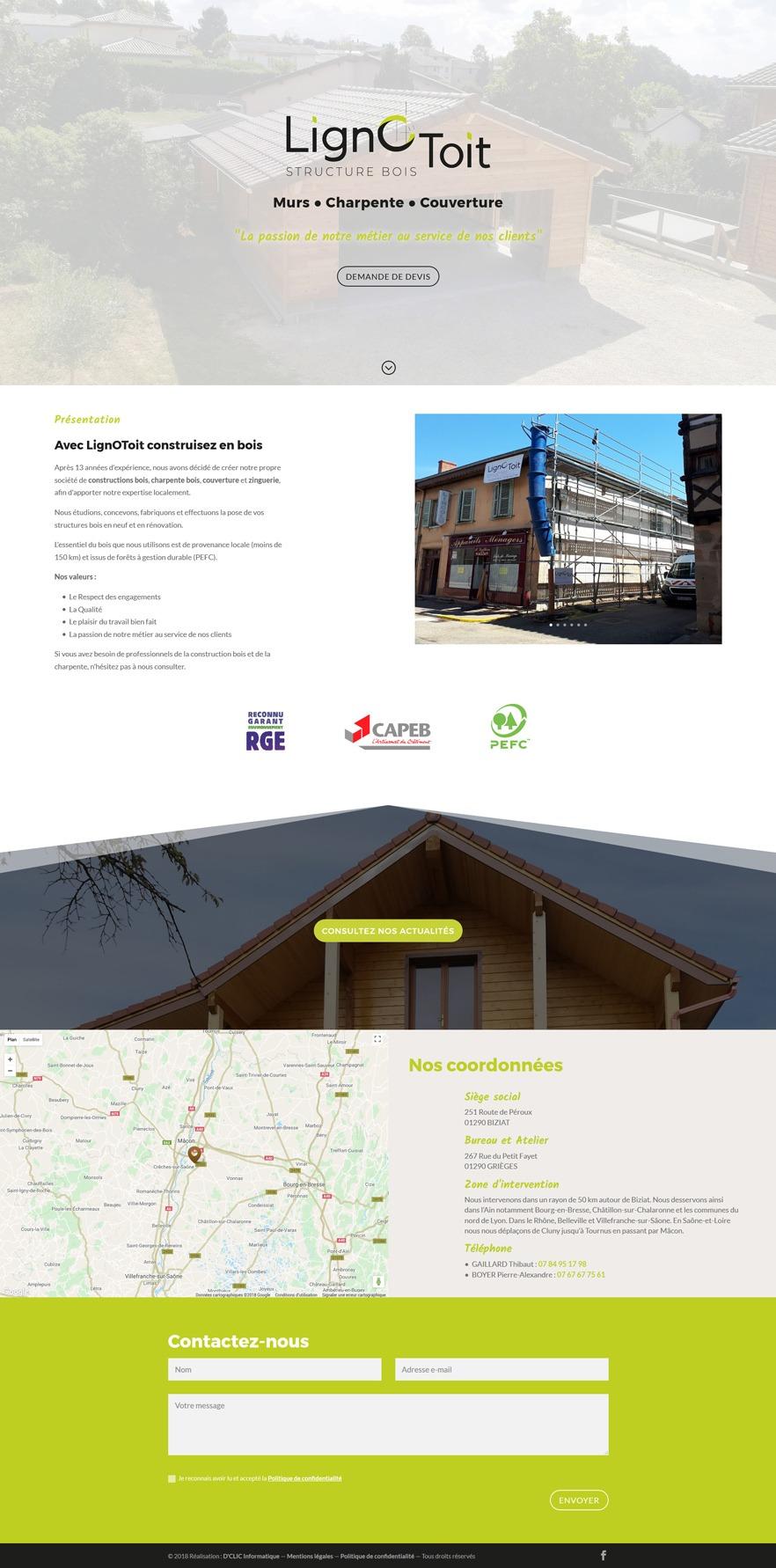 LignOToit - Structure bois - Murs - Charpente - Couverture - Zinguerie